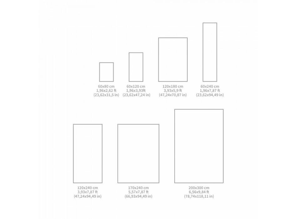 Alfombra de vinilo de fantasía vintage rectangular moderna - Dimetra