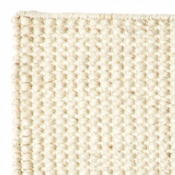 Alfombra de salón moderna de lana y algodón tejida a mano - Wreck