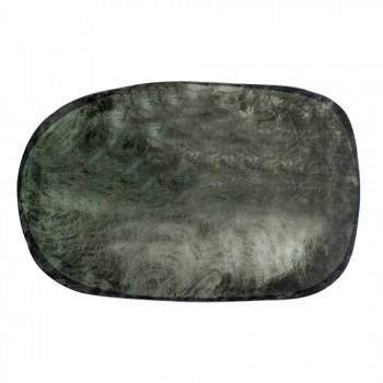 Alfombra ovalada de poliamida para salón con impresión digital - Palmer