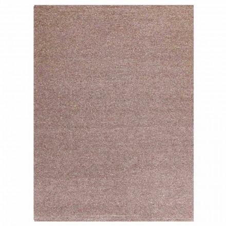 Alfombra rectangular de diseño moderno en seda y algodón marrón o crema - Kuta