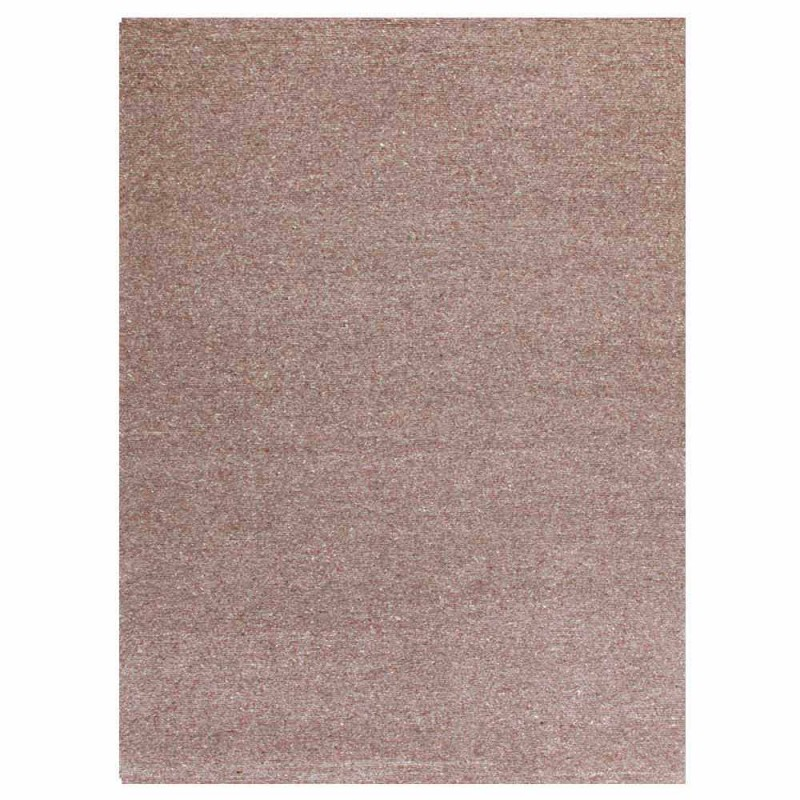 Alfombra rectangular en lana y algodón marrón o crema de diseño moderno - Kuta