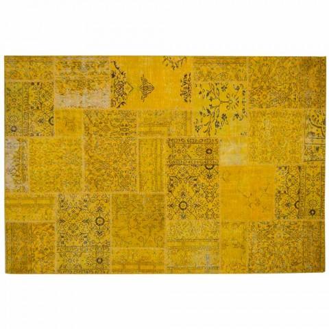 Alfombra de sala de estar hecha a mano de patchwork anudada a mano en Turquía - Raimund