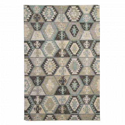 Alfombra de salón de algodón y lana con motivos de diseño moderno - Ratta