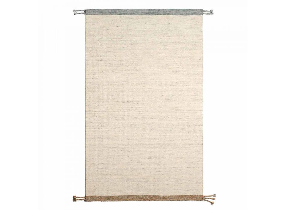 Alfombra rectangular para salón en lana y algodón de diseño versátil y moderno - Dimma