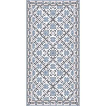 Alfombra de salón de diseño con patrón de vinilo rectangular - Petunia