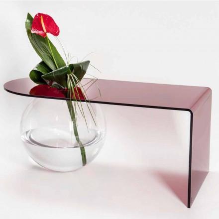 Mesa de centro moderna de plexiglás curvada, producida en Italia, Bolly