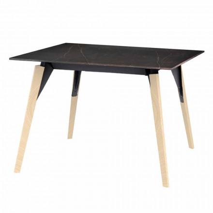 Mesa de centro en efecto madera y mármol, 3 colores y 2 tamaños - Faz Wood by Vondom