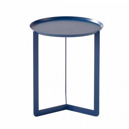 Mesa de centro redonda de metal para exterior Made in Italy - Stephane