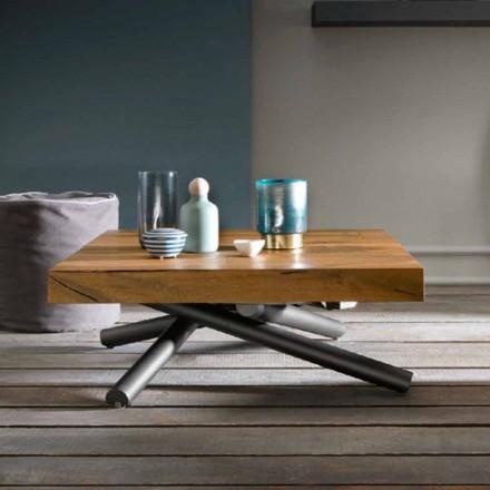 Mesa de centro transformadora de diseño en madera Made in Italy - Vincenzo