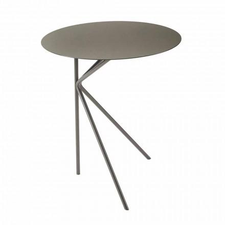 Mesa de centro redonda de metal, diseño en varios colores y 2 tamaños - Olesya