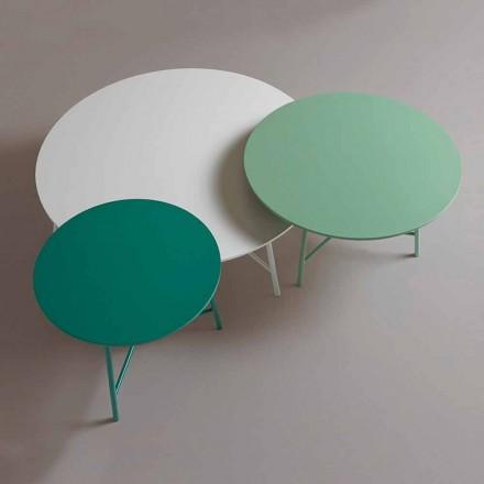 Mesa de centro colorida moderna de diseño redondo para sala de estar - Boogie