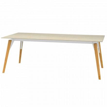 Mesa de centro con tablero de efecto mármol, 3 colores, 2 tamaños - Faz Wood by Vondom