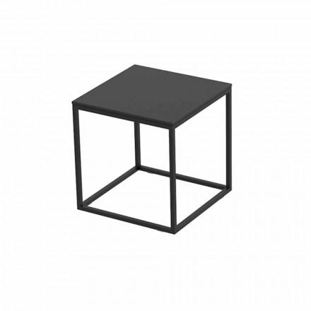 Mesa de centro para exterior en aluminio y laminado cuadrado negro - Suave by Vondom