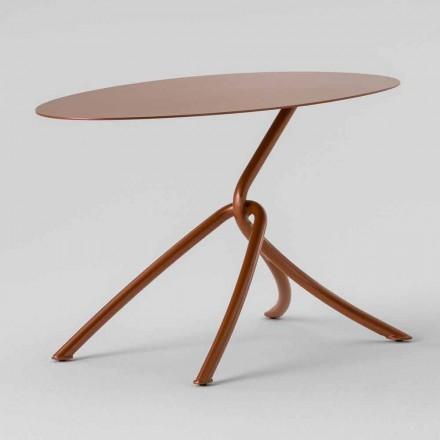 Preciosa mesa de centro para exterior en metal pintado Made in Italy - Lubeck