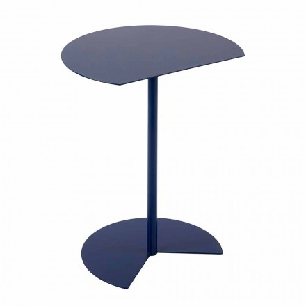 Mesa de centro de jardín de metal de colores de diseño moderno en 3 tamaños - Cettina