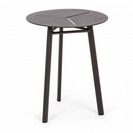 Mesa redonda de jardín de aluminio de diseño Homemotion - Nigerio