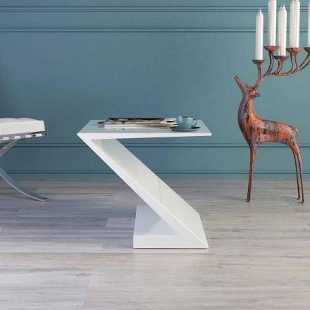 Mesita de salón blanca de diseño moderno modelo Zeta