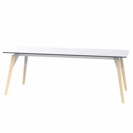Mesa de centro en laminado blanco o negro en 2 tamaños - Faz Wood by Vondom