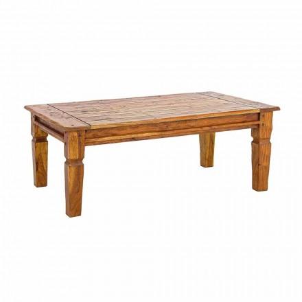 Mesa de centro de madera maciza de acacia Homemotion Classic Design - Remo