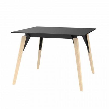 Mesa de centro en madera y Hpl varios colores 2 tamaños - Faz Wood by Vondom
