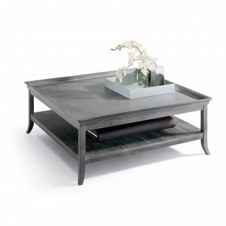Mesa de centro en madera lacada plata, L130xP130 cm, Berit