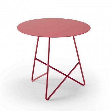 Mesa de centro en metal de colores y 3 dimensiones, Made in Italy - Magali