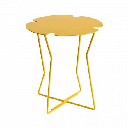 Mesa de centro para exterior de metal coloreado de diseño moderno - Kathrin