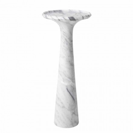 Mesa de centro redonda de diseño en mármol blanco de Carrara - Udine
