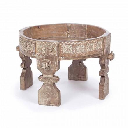 Mesa de centro de estilo rústico Homemotion en madera de mango - Sania