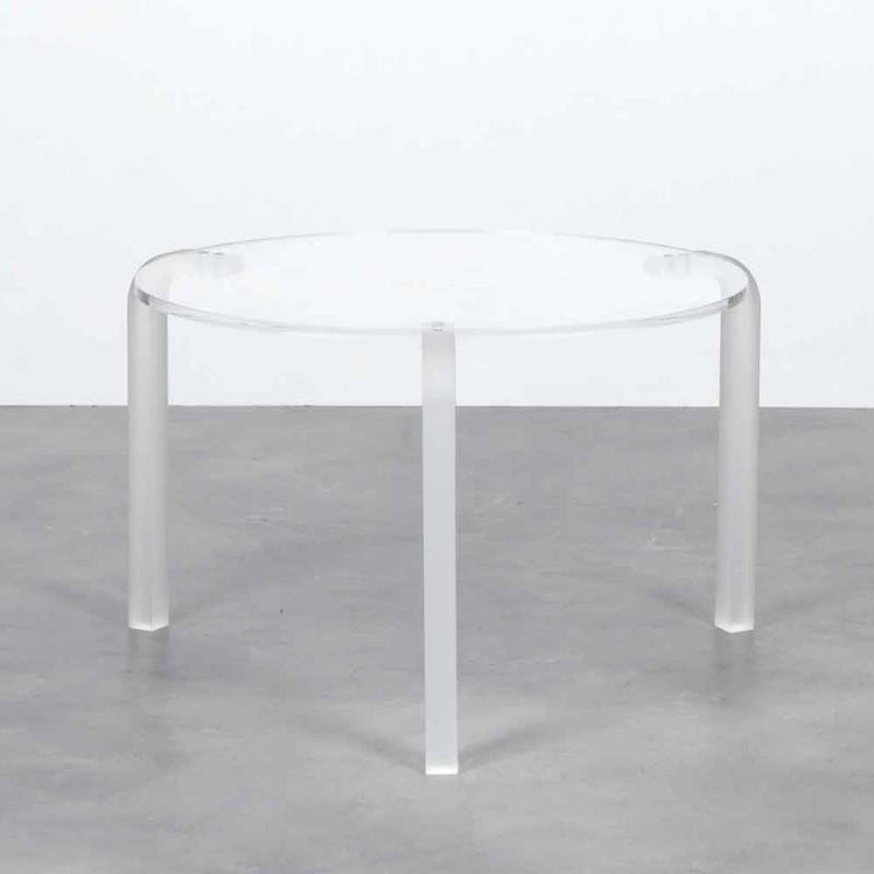 Asiento de la tabla Low ronda en metacrilato transparente Armando