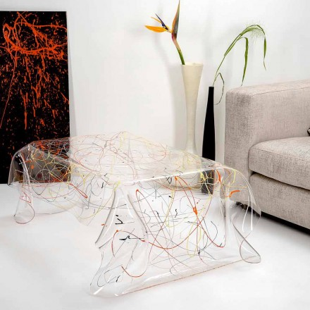 Mesa moderna hecha de plexiglás multicolor hecha en Italia, Asia