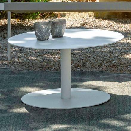 Mesa de centro redonda para jardín en aluminio blanco o carbón - Key by Talenti