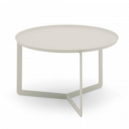 Mesa de centro redonda para exterior en cáñamo o metal de barro - Stephane