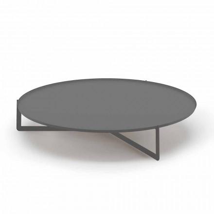Mesa de centro redonda para exterior en metal de alta calidad Made in Italy - Stephane