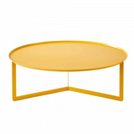 Mesa de centro redonda moderna para exteriores en metal Made in Italy - Stephane