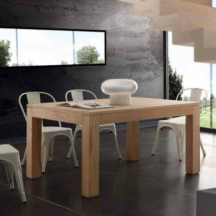 Mesa extensible con patas macizas y tablero de madera Indiana