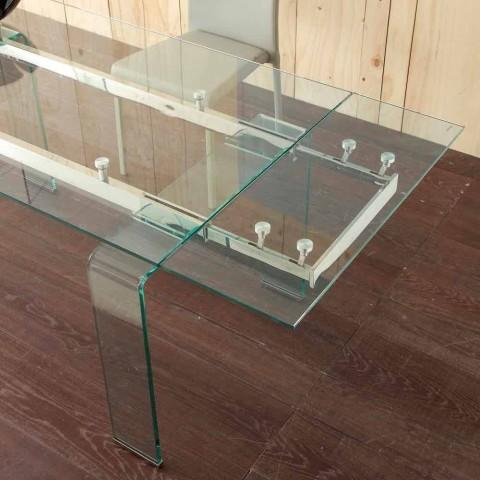 Mesa extensible con vidrio templado Señor