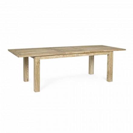 Mesa de jardín extensible a 260 cm en madera, 8 asientos Homemotion - Gismondo