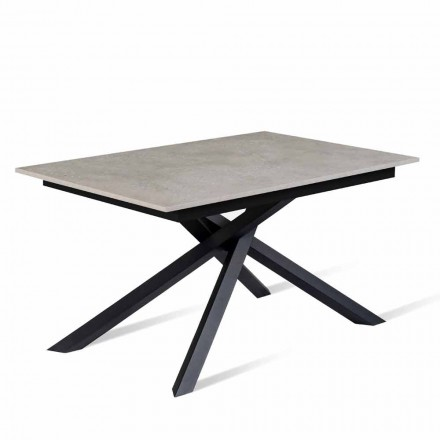 Mesa extensible hasta 190 cm con tablero de melamina Made in Italy - Elias