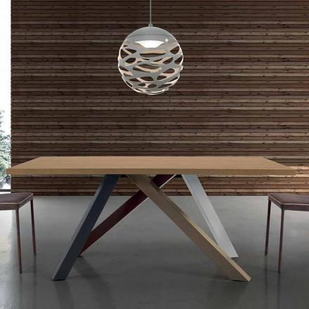 Mesa Extensible Moderna con Tapa de Madera Laminada Hecho en Italia - Settimmio