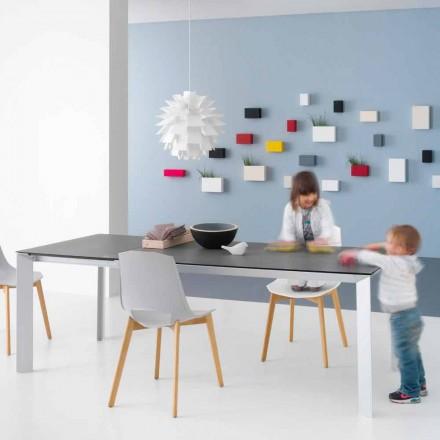 Mesa moderna extensible con estructura de aluminio - Blera