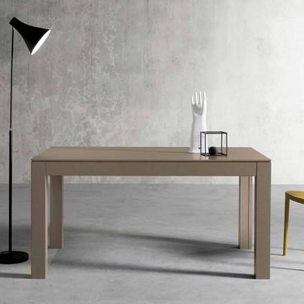 Mesa extensible moderna de fresno fabricada en Italia por Leffe