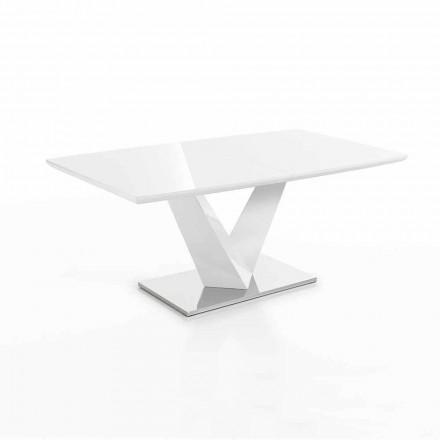 Mesa moderna extensible hasta 200 cm en Mdf y acero - Sannio
