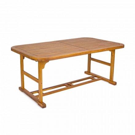 Mesa extensible de hasta 240 cm en madera de jardín, de diseño - Roxen