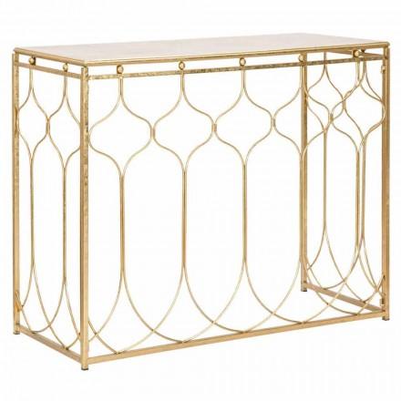 Mesa consola rectangular de hierro de diseño moderno - Karine