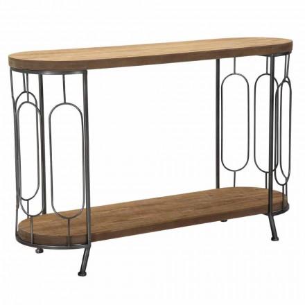 Mesa consola de estilo moderno en hierro y MDF - Trisha