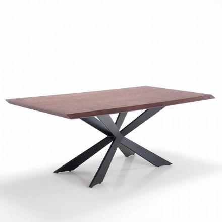 Mesa de comedor de diseño moderno en Mdf y metal - Hoara
