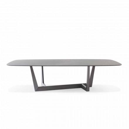 Mesa de cocina de cerámica y metal de plomo Made in Italy - Art