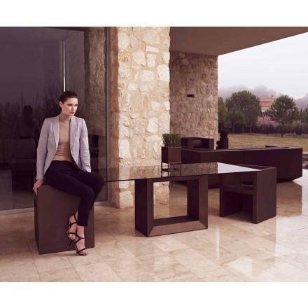 Mesa para exteriores Vela 200x100 cm de Vondom, en resina de polietileno
