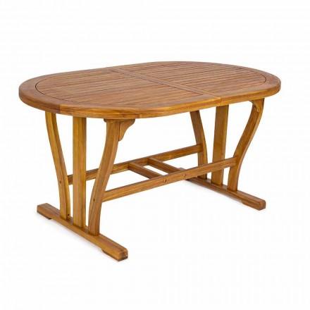 Mesa de jardín extensible hasta 200 cm ovalada en madera - Roxen